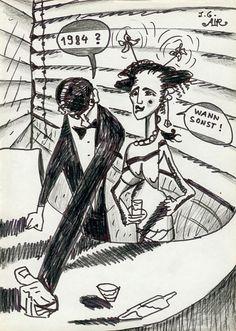 1984? - Wann sonst! (1984? - When else!), 1984 by J.G.Air (J.G.Wind) - Inspiriert durch die Campari-Werbung und George Orwell / Society Portrait