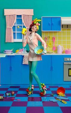laurel and hector lip service carmen miranda fruit look Fashion Shoot, Fashion Art, Editorial Fashion, 60s Inspired Fashion, Carmen Miranda, Fancy Hats, Domestic Goddess, Arte Pop, On Your Wedding Day