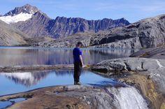 Beautiful waterfall at almost 14000 feet elevation on the Sierra Nevada del Cocuy trek