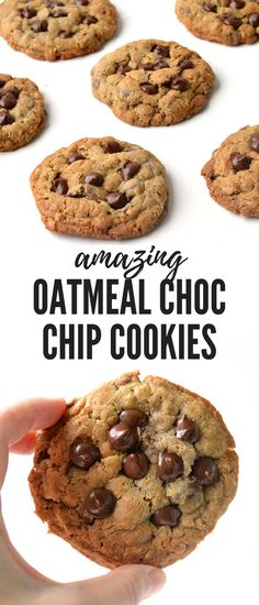 Oatmeal Chocolate Chip Cookies - Sweetest Menu