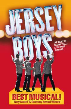 JERSEY BOYS is coming to San Diego October 21-26, 2014.