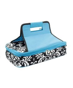 """Damask Insulated Casserole Carrier . $29.95. ITEM NO : DMSK391 SIZE : 18 """"L X 10 """"D X 4.5 """"H * STURDY DOUBLE HANDLE * TWO INSULATED COMPARTMENTS (HOT/COLD) * GREAT FOR TAILGATING/POTLUCK/PICNIC * MONOGRAM READY"""