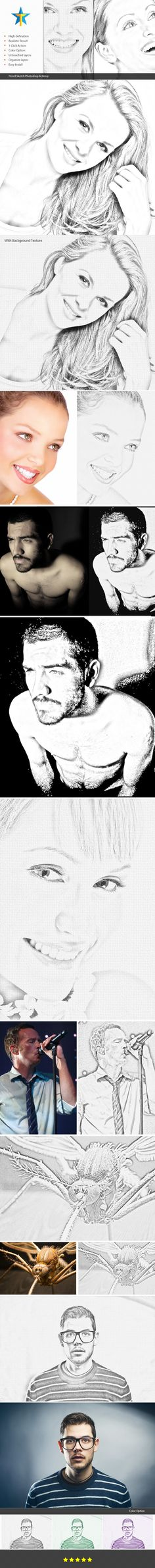 Pencil Drawing Photoshop Action — Photoshop ATN #drawing #creative • Available here → https://graphicriver.net/item/pencil-drawing-photoshop-action/19393738?ref=pxcr