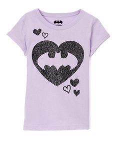 f98e648be977 Jerry Leigh Lilac Racing DC Comics Glitter Batgirl Tee - Girls | zulily