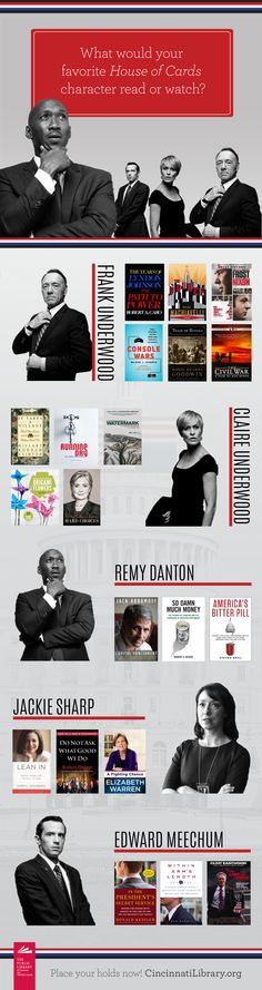 What would your favorite House of Cards character read? #HouseofCards #HOC