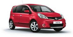 Nissan note II, 1,4, 5 ds., emotion rood, gereden van 2009-heden