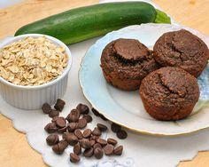 Chocolate zucchini muffins. Healthy and yummy!