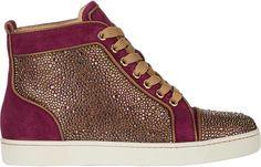 Christian Louboutin Strass-Embellished Louis Woman Flat Sneakers