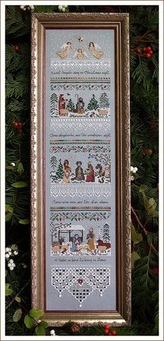 """Heirloom Nativity Sampler"" by Victoria Sampler cross stitch pattern"