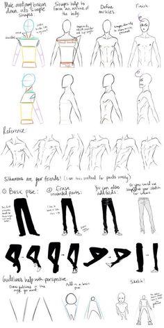 Image via We Heart It #boy #draw #drawing #man #men #trousers #woman