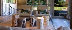 Log bedside tables