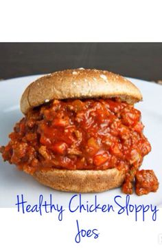 Healthy chicken Sloppy Joes. The only way you'll ever make sloppy joes again! Serve over whole wheat pita for 21 day fix friendly option. Www.apinchoffit.blogspot.com