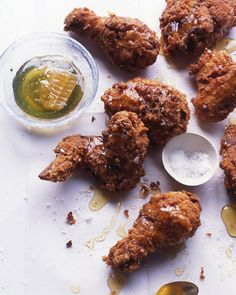 Salted Fried Chicken | Martha Stewart Living - Coarse salt balances the intense…