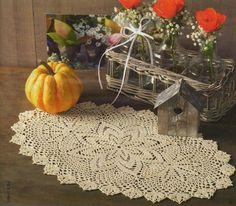 Crochet clothtable diagram with diagram, click to enlarge | Oval Crochet Doily | Pinterest | Crochet, Crochet doilies and Thread crochet