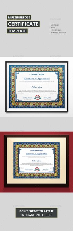 Clean Certificate Template Stationery and Fonts - certificate template download