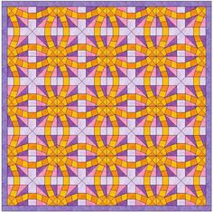 (7) Name: 'Quilting : Foundation Pieced Wedding Ring 3 Block