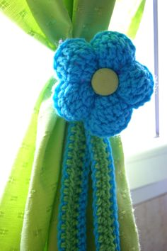 sujeta-cortinas de flor