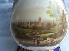 19c Bloor Derby Porcelain Vase Landscape View Near Derby C1830 (a.f)