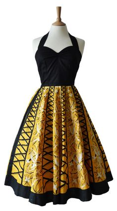 1950s Vintage Tiki Prom Dress 10 - how do you like this one Bip?