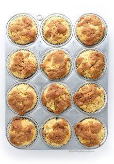 Apple Cinnamon Muffins with a Cinnamon Crunch Topping | She Wears Many Hats