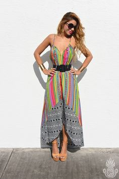 geo tribal, tribal print, ethnic, geometric print, boho, bohemian, maxi dress, mara hoffman, fashion show, mbfw, mbfw 2015, mbfw swim,  mercedes benz fashion week, miami fashion blogger, pineapple me, pineappleme, runway, summer, summer look, summer outfit, swim week, street style