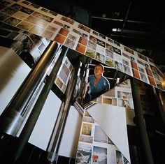 National Geographic pages roll off a press above a printer's head in Chicago, Illinois, December 1960.  PHOTOGRAPH BY B. ANTHONY STEWART, NATIONAL GEOGRAPHIC via natgeofound.tumblr.com