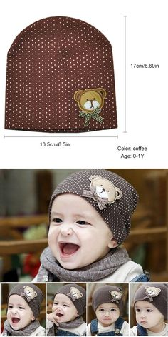 1ed16df21ae Unisex Brown Cotton Hat For New Born Kid Child Baby Boy Girl Soft Toddler  Cap