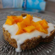 Tartaleta de avena y mango
