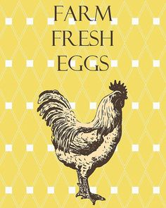 free printable eggs for sale signs | INSTANT DOWNLOAD - 8x10 Art Print - Printable - Farm Fresh Eggs