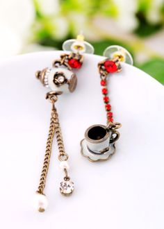 Unique Teapot And Cup Dangle Earrings - View All - New In
