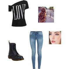 Maou Asks You Out by maryvarleyrox on Polyvore featuring Dr. Martens