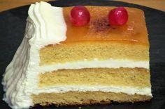 Tarta borracha con crema de queso, historia: Esta tarta si que tiene historia, la hice para la boda de mi amigo que ayer cumplió años y aniversario de boda, tuve…