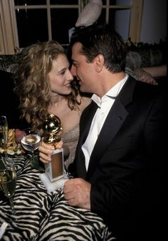 You HAVE to See This Old Golden Globes Photo of SJP and Mr. Big via @WhoWhatWear