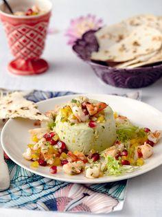 Rezept:  Avocadoterrine mit Garnelen-Salsa