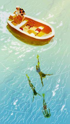 Pinzellades al món: Ens capbussem en l'aigua / Nos zambullimos en el agua / We dive in the water