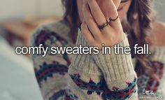 And this is me. I have developed a dangerous obsession with sweaters! I want just about every frickin sweater I see!