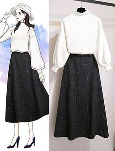 Fashion Drawing Dresses, Fashion Illustration Dresses, Fashion Dresses, Drawing Fashion, Dress Design Sketches, Fashion Design Drawings, Fashion Sketches, Korean Girl Fashion, Cute Fashion