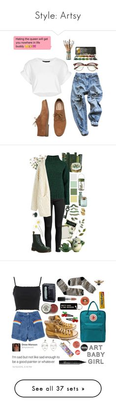 """""""Style: Artsy"""" by rmarie2001 ❤ liked on Polyvore featuring art, Tema, Lowie, INC International Concepts, Chicwish, Josa Tulum, Franz, Dr. Martens, Retrò and Sony"""