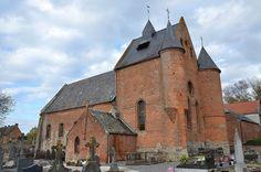 Eglise Sainte-Aldegonde (église fortifiée - XVIe- XVIIe) .Malzy (Aisne - Thiérache) - Picardie