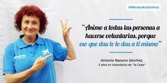 """Infografía sobre Antonia, voluntaria de """"la Caixa"""", que nos anima como un ejemplo a seguir #HéroesAnónimos"""