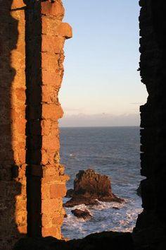 Overlooking the sea from Slains Castle, Slains, Scotland United Kingdom.