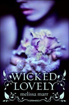 Wicked Lovely series by Melissa Marr.  Wicked Lovely (Bk. 1), Ink Exchange (Bk. 2), Fragile Eternity (Bk. 3), Radiant Shadows (Bk. 4), Darkest Mercy (Bk. 5)