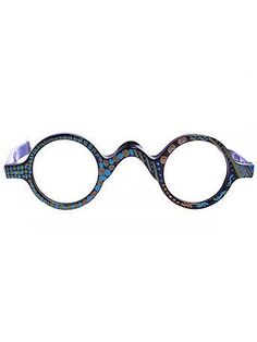 Vintage Le Club Optique Hand-Painted Round Eyeglasses