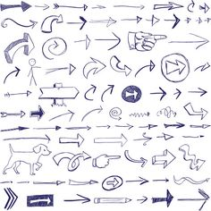 Best and ultimate collection of over a thousand free vector doodles and sketches only from your best resource of vector graphic design freebies. Doodle Drawings, Doodle Art, Easy Drawings, Bullet Book, Arrow Doodle, Planner Doodles, Etiquette Vintage, Note Doodles, Doodle Icon