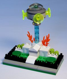 A tiny UFO destroying a tiny White House | 24 Unexpectedly Awesome Lego Creations