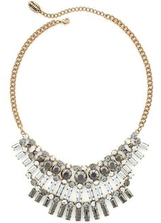 Nicole By Nicole Miller nicole by Nicole Miller Gold-Tone Crystal Statement Necklace