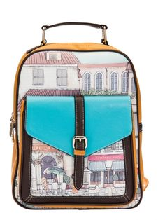 Fashionable Casual Color Block Zipper Buckle Yellow Cute Backpacks For Girls
