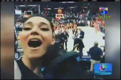 Amelia Vega Celebrando Triunfo De Su Esposo Al Horford En La Cancha #Video