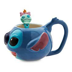 Your WDW Store - Disney Coffee Cup Mug w/Spoon - Stitch - Parks