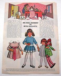 Big Doll Robbery at Betsy McCall's Paper Dolls November 1972